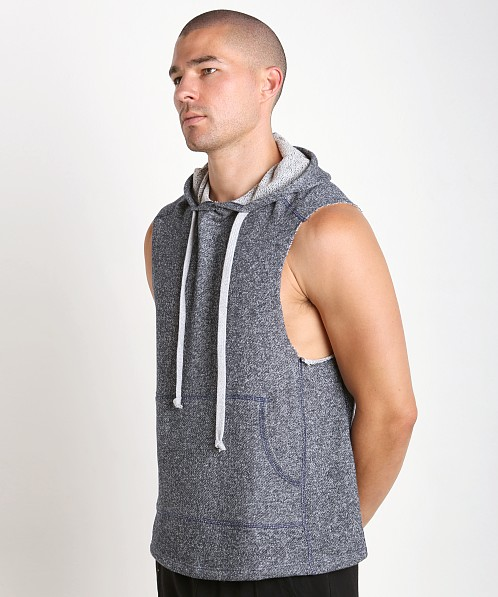 LASC Pullover Sleeveless Hoodie Heather Navy