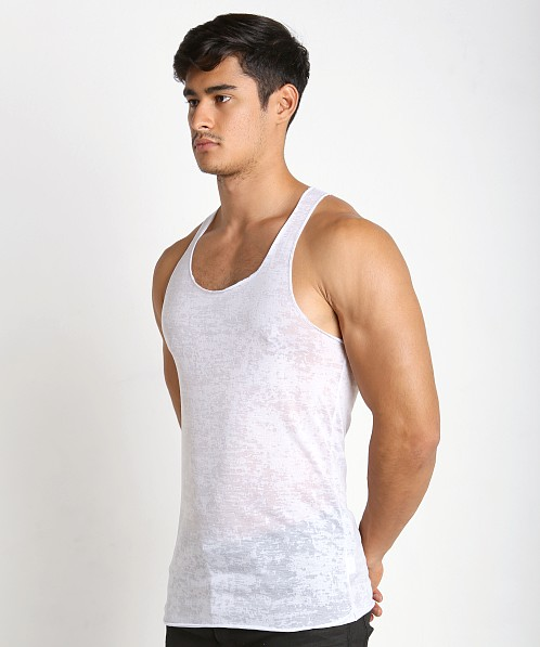 LASC Burn Out String Tank White