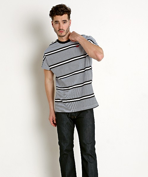 G-Star RC Collyde 5 Stripe T-Shirt White/Dk Black