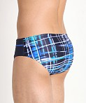 Speedo Powerflex Eco Laser Sticks Swim Brief, view 4