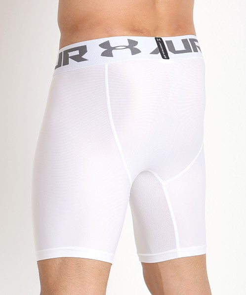 Under Armour 2.0 Mesh Front Compression Short White