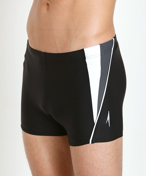 Speedo Fitness Splice Square Leg Mineral Black