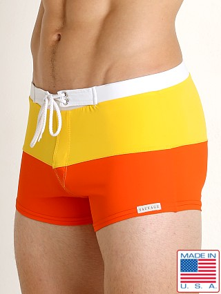Sauvage Riviera Splice Swim Trunk Orange/Yellow/White