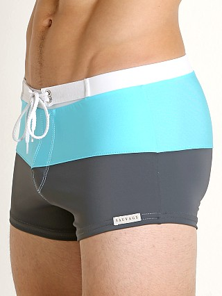 You may also like: Sauvage Riviera Splice Swim Trunk Charcoal/Turquoise/White