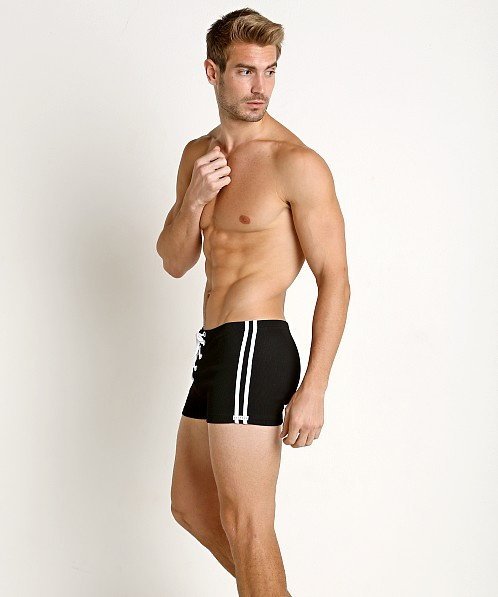 Sauvage Classic Fit Football Lace-Up Trunk Black