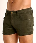 LASC Corduroy 5-Pocket Short Shorts Army, view 3