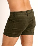 LASC Corduroy 5-Pocket Short Shorts Army, view 4