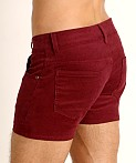 LASC Corduroy 5-Pocket Short Shorts Burgundy, view 4
