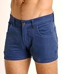 LASC Corduroy 5-Pocket Short Shorts Pacific, view 3
