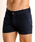 LASC Corduroy 5-Pocket Short Shorts Navy, view 3