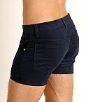LASC Corduroy 5-Pocket Short Shorts Navy, view 4