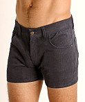 LASC Corduroy 5-Pocket Short Shorts Charcoal, view 3