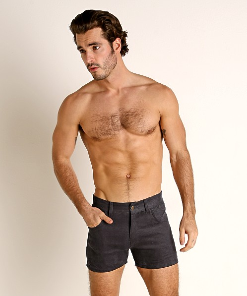 LASC Corduroy 5-Pocket Short Shorts Charcoal
