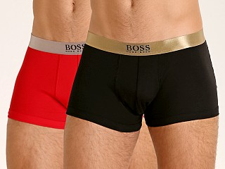 Model in black/red Hugo Boss Limited Edition Gift Giving Trunks 2-Pack