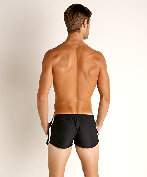 LASC Performance Mesh Running Shorts Black/White