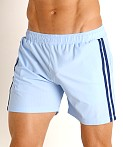 LASC Performance Mesh Active Shorts Baby Blue/Navy, view 3