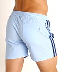 LASC Performance Mesh Active Shorts Baby Blue/Navy, view 4