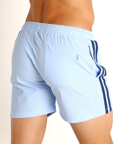 LASC Performance Mesh Active Shorts Baby Blue/Navy