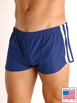 LASC Performance Mesh Running Shorts Navy/White