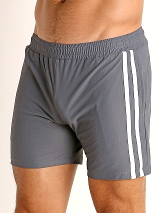 Complete the look: LASC Performance Mesh Active Shorts Grey/White