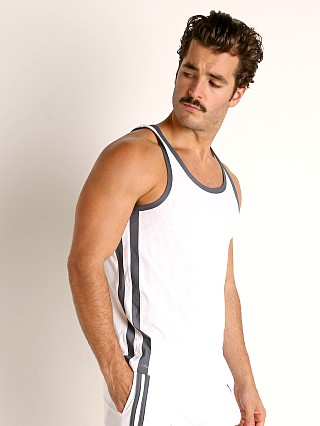 Complete the look: LASC Performance Mesh Tank Top White/Grey