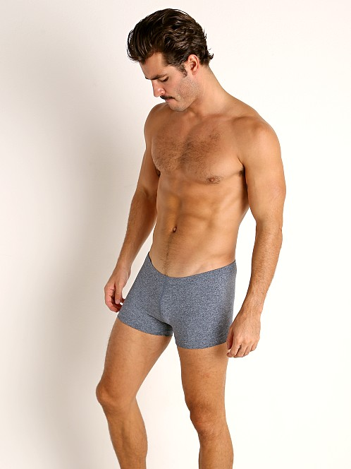LASC Workout Micro Shorts Dark Blue Heather
