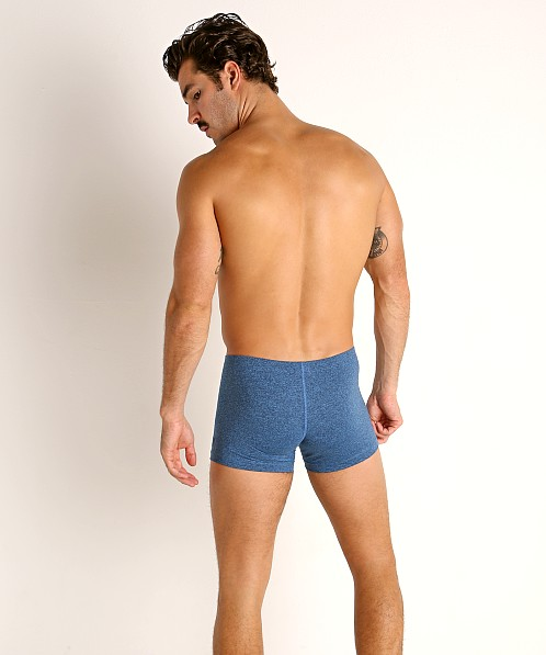 LASC Workout Micro Shorts Cobalt Heather