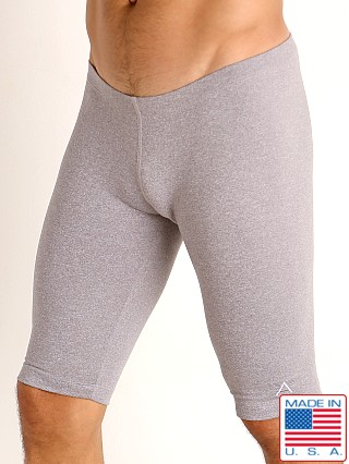 LASC Workout Bike Shorts Silver Heather