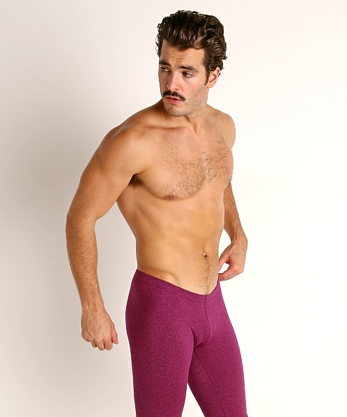 LASC Workout Bike Shorts Magenta Heather