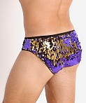 LASC Transformer Sequined Sparkle Briefs Purple/Gold, view 4
