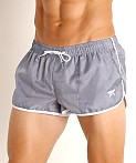 LASC Nylon Running Shorts Grey, view 3