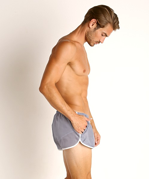 LASC Nylon Running Shorts Grey