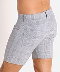 LASC London Plaid 5-Pocket Shorts Grey/Blue, view 4