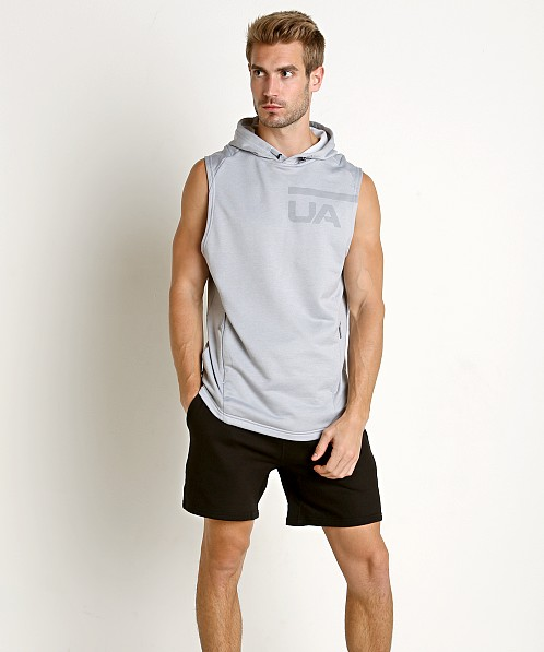 Under Armour Tech Terry Sleeveless Hoodie Steel