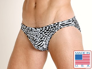 LASC St. Tropez Low Rise Swim Brief Snow Leopard