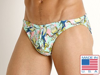 LASC St. Tropez Low Rise Swim Brief Lorekeets