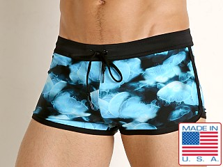 LASC American Square Cut Swim Trunks JellyFish