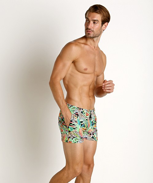 LASC Malibu Swim Shorts Jungle Leopard