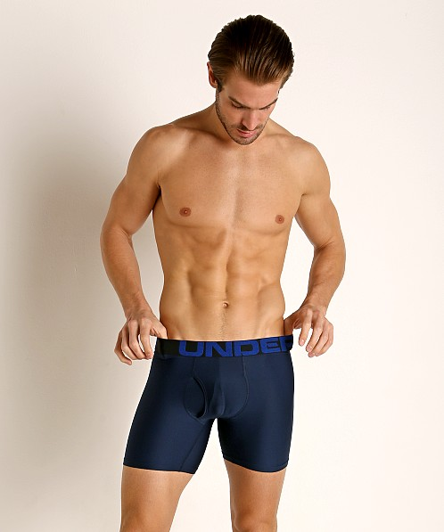 "Under Armour Tech 6"" Boxerjock 3-Pack Academy/Mod Gray/Royal"