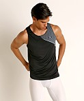 Under Armour Qualifier Iso-Chill Runner's Tank Top Black/Reflect, view 2