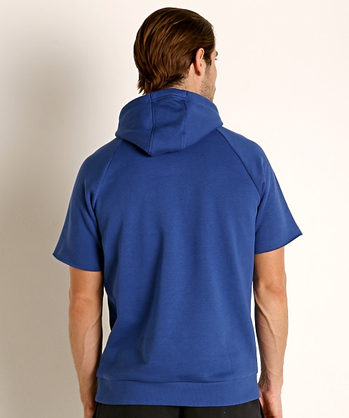 Under Armour Rival Fleece Logo Shortsleeve Hoodie American Blue