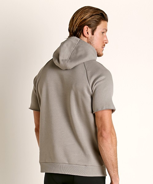 Under Armour Rival Fleece Logo Shortsleeve Hoodie Green/Gray