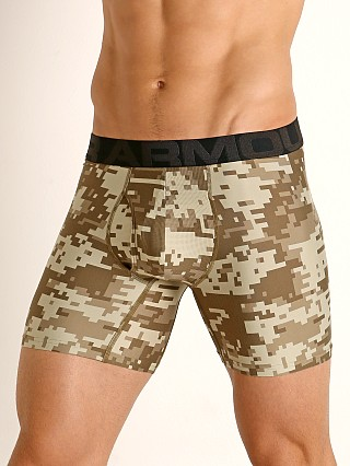 "Under Armour Tech Mesh Front 6"" Boxerjock Canyon Green/Black"