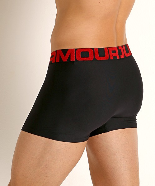 "Under Armour Tech Mesh Front 3"" Boxerjock 2-Pack Red/Black"