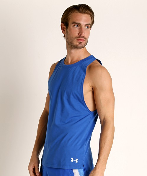 Under Armour Baseline Cotton Tank Top Versa Blue
