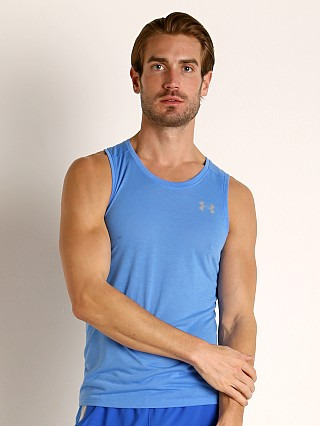 Model in water Under Armour Streaker 2.0 Running Tank Top