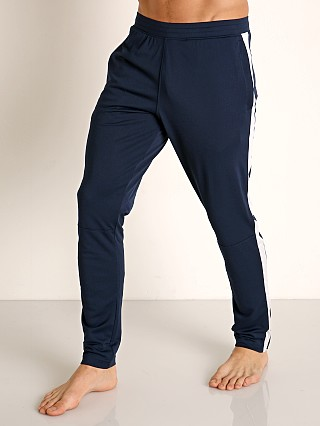 Model in academy Under Armour Sportstyle Pique Track Pant