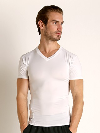 Under Armour Tactical HeatGear Compression V-Neck Tee White