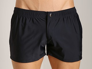 Complete the look: LASC Solid Nylon Swim Trunk Black