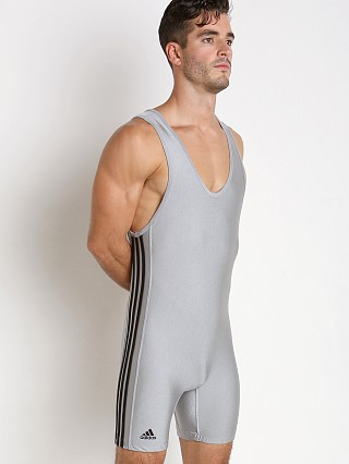 Adidas 3 Stripe Wrestling Singlet Grey/Black
